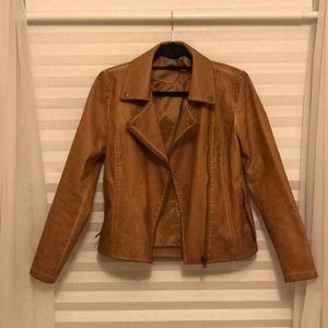 Distressed (faux) leather jacket
